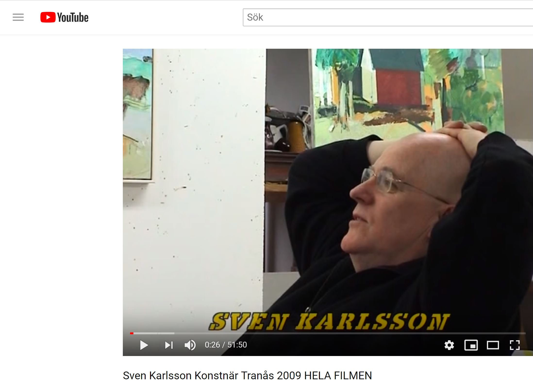Sven Karlsson - Youtube